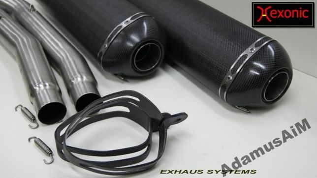 tłumiki sportowe carbon suzuki hayabusa 1300 yamaha fjr 1300 cbr xx