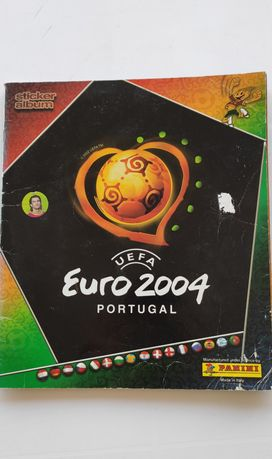Caderneta cromos Panini Euro 2004