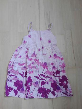 Śliczna,letnia sukienka z bawełny rozm.98/104