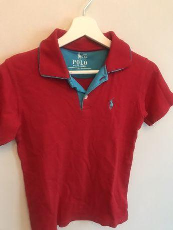Ralph Lauren Polo 164 cm czerwone bawełniane
