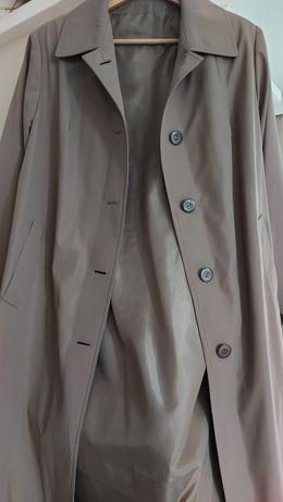 Lekki płaszcz damski  beżowy rozmiar L XL