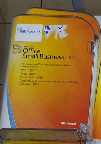 Licencja box Microsoft Office Small Business 2007