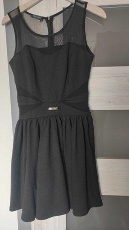 Czarna sukienka Avanti siatka