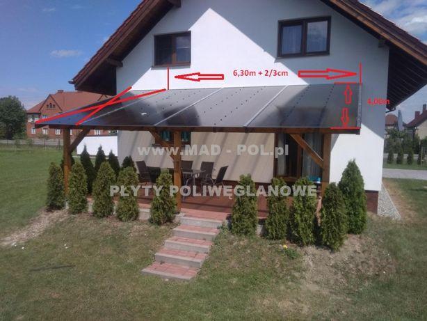 Poliwęglan komorowy - Zadaszenie tarasu 4m x 6,30m /10mm/ Sląsk - PL