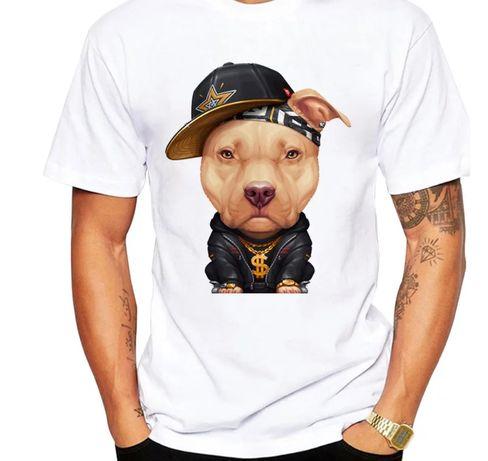 Koszulka bluzka t-shirt Amstaff pitbull american Bully Pies S-XXL