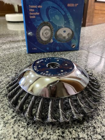 Escova de aço para roçadora
