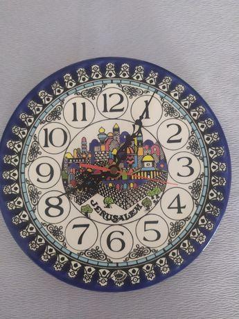 Zegar na ścianę Jerozolima talerz vintage orient retro zegarek jerusal