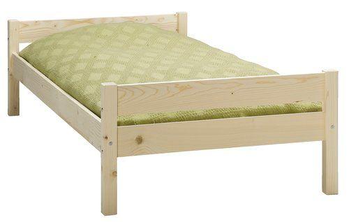 Sprzedam nowe łóżko pojedyncze z drewna świerkowego, materac BASIC