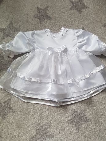 Piękny komplecik do chrztu dla dziewczynki