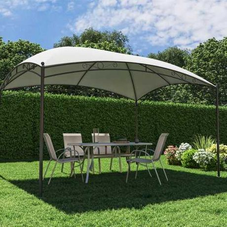 Павильон 3м х 4м стальной каркас, шатер навес беседка альтанка садовая