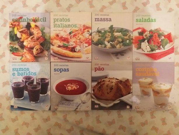 Livros200receitasPão,Cozinhafácil.Sopas.CozinhaSaudável.Massas.Saladas