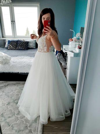 Suknia ślubna śmietankowa