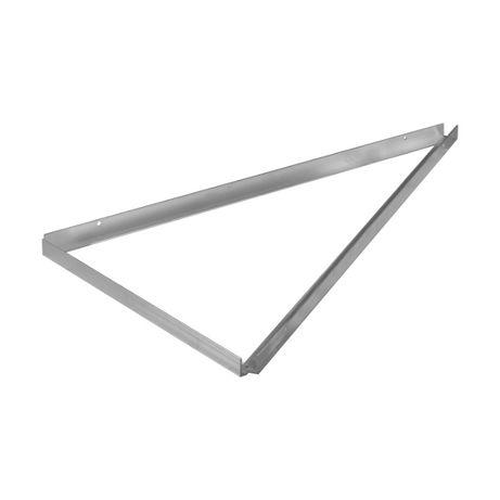 Trójkąt aluminiowy 30 stopni poziomy 3mm ze śrubami fotowoltaika