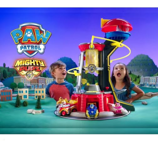 Paw Patrol Mighty Pups Super Paws Lookout Tower Щенячий Патруль База