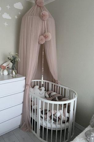 Детская кроватка 9в1 с матрасом Дитяче ліжко 9в1 з матрацом