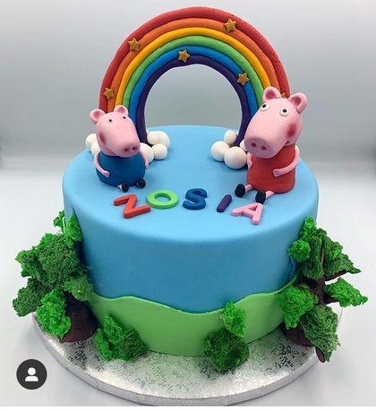 Figurka z masy cukrowej peppa i george na tort urodziny
