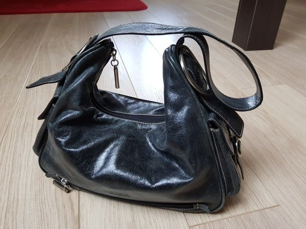 VERSO torba torebka ze skóry naturalnej - stan bardzo dobry