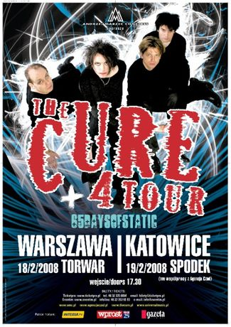 "Plakat koncertowy The Cure ""4 Tour"" 2008"
