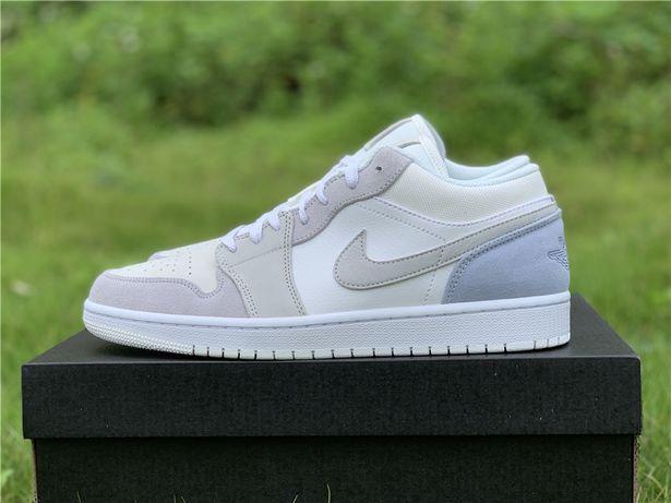 Кроссовки Nike Air Jordan 1 Low Paris White Sky Grey джорданы низкие