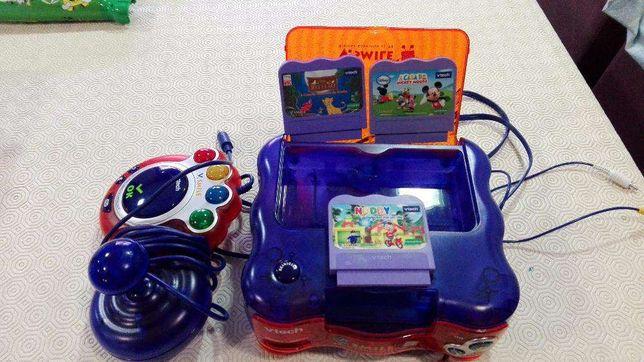 Consola VTech com 3 Jogos