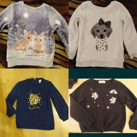 Детские фирменные вещи H&M, Palomino, George на девочку 2-4 года.