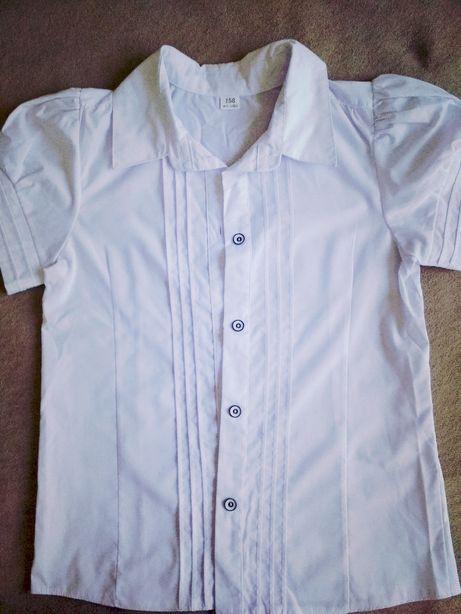 Блузка школьная, рост 158 см.