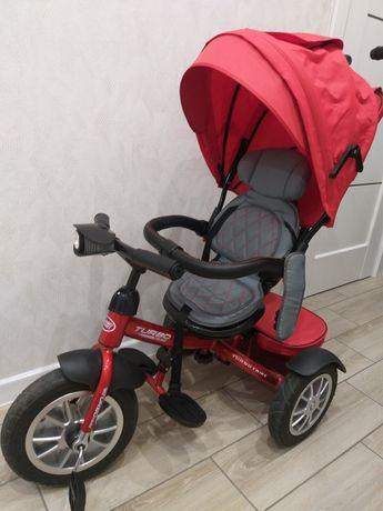 Детский трехколесный велосипед с родительской ручкой Turbo trike
