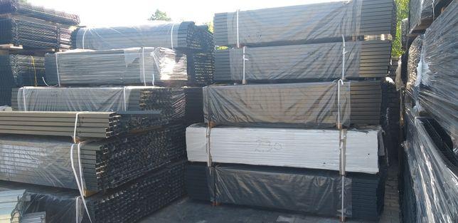 Słupek ogrodzeniowy 60x40 panel siatka grafit 7016 ocynkowany