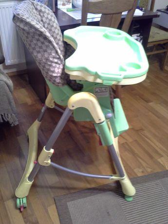 Krzesełko do karmienia dziecka regulowana wysokość.