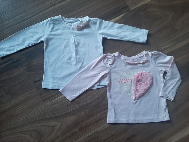 Bluzeczki RESERVED dla dziewczynki rozm.74