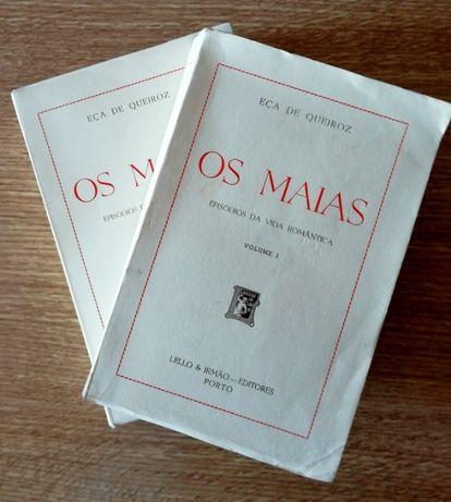 Os Maias – Eça de Queiroz volume I e II, Lello & Irmão