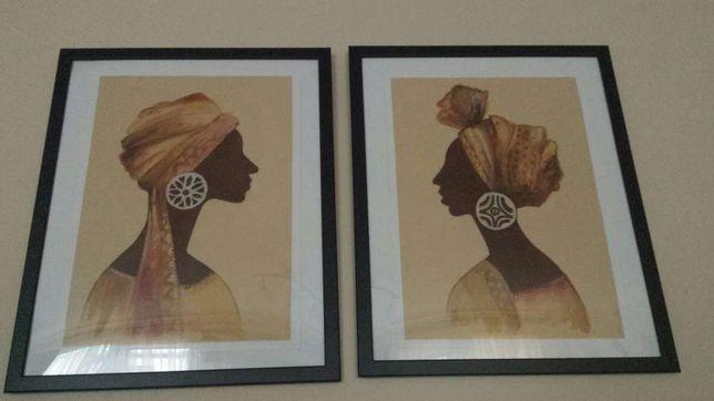 obraz etno, postać, farba hand made