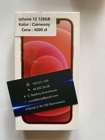 Telefon Iphone 12 Czerwony 128 GB