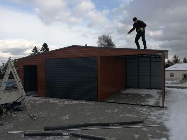 Garaże blaszaki 9X6 schowki budowlane wiaty śląskie opolskie