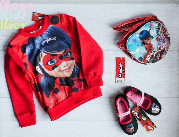 Испания Хлопковый джемпер реглан Леди баг свитерок свитшот с начесом