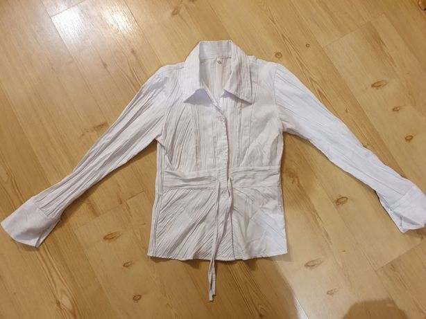 Biała bluzka dla dziewczynki r. 128