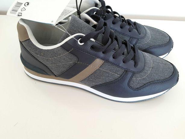buty sportowe Livergy sneakersy adidasy nowe z metką szare granatowe