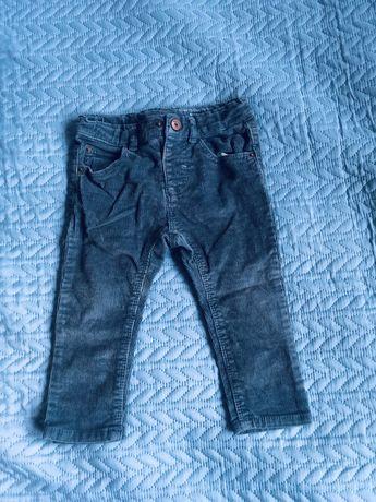 Spodnie sztruksowe Zara rozmiar 86
