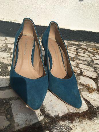 Sapatos SALSA, azul petróleo