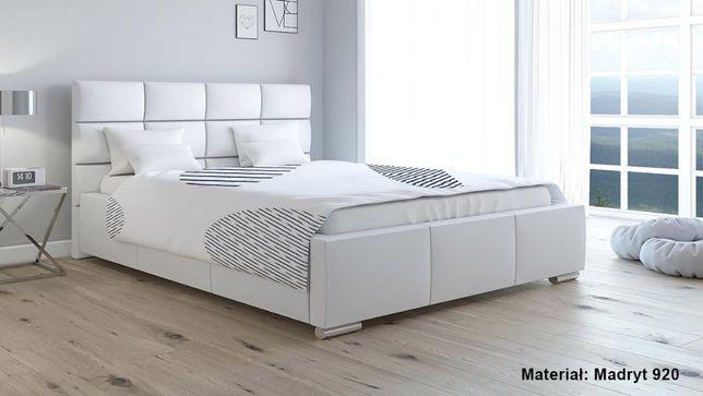 Łóżko 2-osobowe tapicerowane EBRO 160x200 pojemnik na pościel stelaż