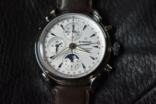 Швейцарские часы Eterna Heritage 1948 2958.41.60.1403 + ремешок