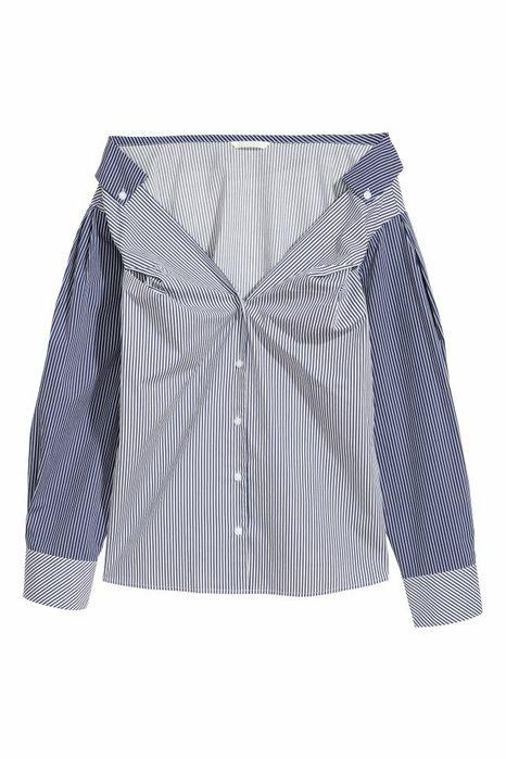 рубашка с открытыми плечами H&M 38 M в полоску Каменец-Подольский - изображение 1
