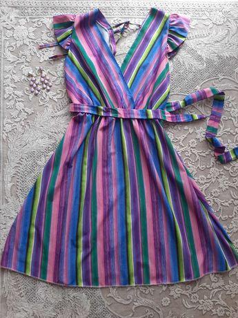 Sukienka na lato kolorowa w paski