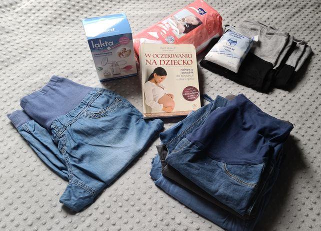 Spodnie ciążowe 5sztuk r. 38 40 + gratisy