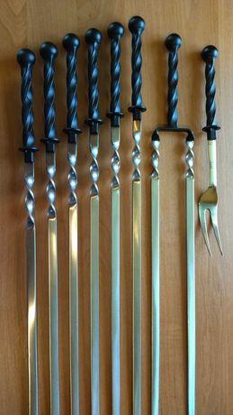 Шампура ручной работы. Кованые шампура. Ручки для шампуров