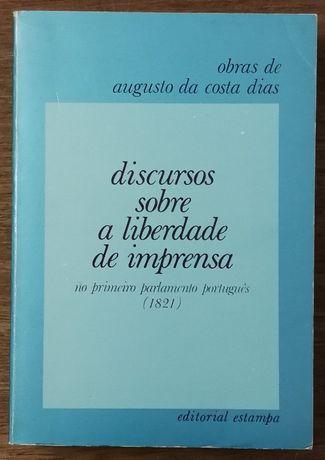 discursos sobre a liberdade de imprensa, augusto da costa dias