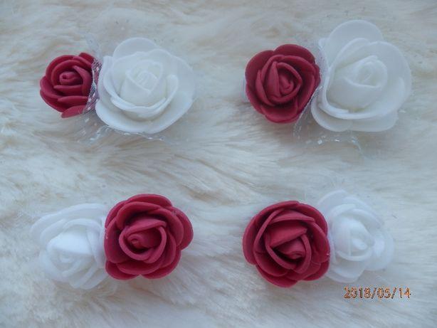spinki róże, spineczki do włosów, ręcznie robione, wesele, rożne kolor