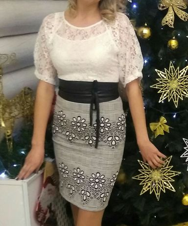 Нарядное праздничное платье 44