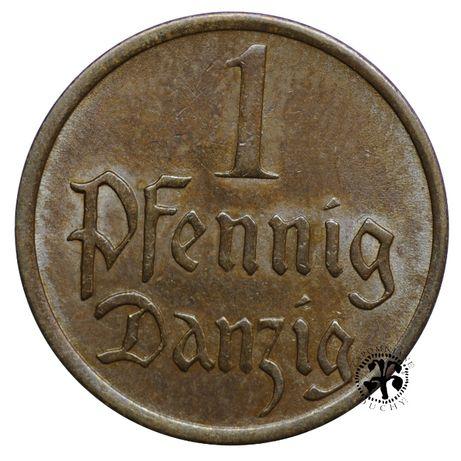 Polska 1 pfennig Wolne Miasto Gdańsk 1937 r.