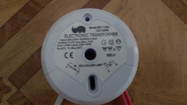 Трансформатор переменного тока с 220на 12v (120w)